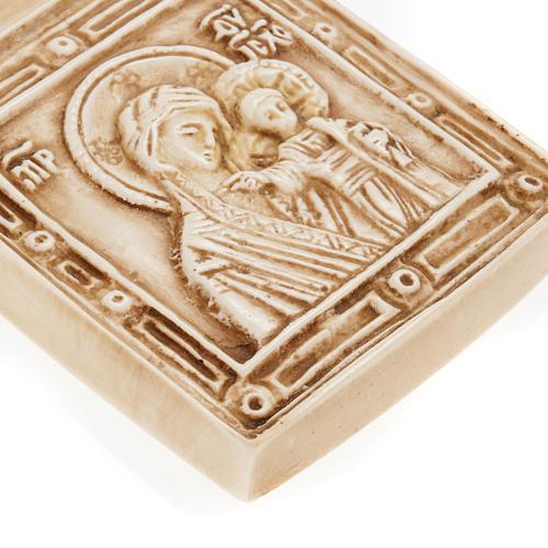 Medalla de piedra de la Virgen con el Niño Belén 3
