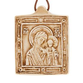 Pingentes Vários: Medalha pedra Virgem com Menino Belém