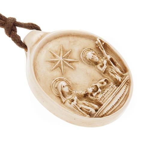 Medalha redonda pedra Natividade Belém 2