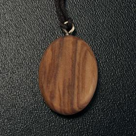 Wisiorek owalny drewno oliwne Madonnina s3