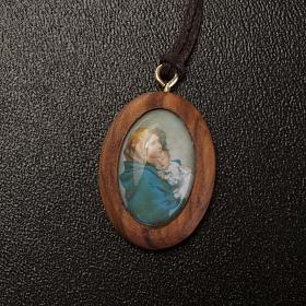 Olive pendant, oval with Ferruzzi's Madonna s2