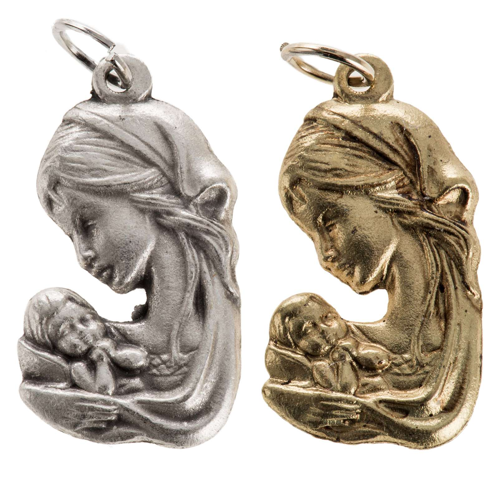 Ciondolo Madonna con bambino 25mm 4