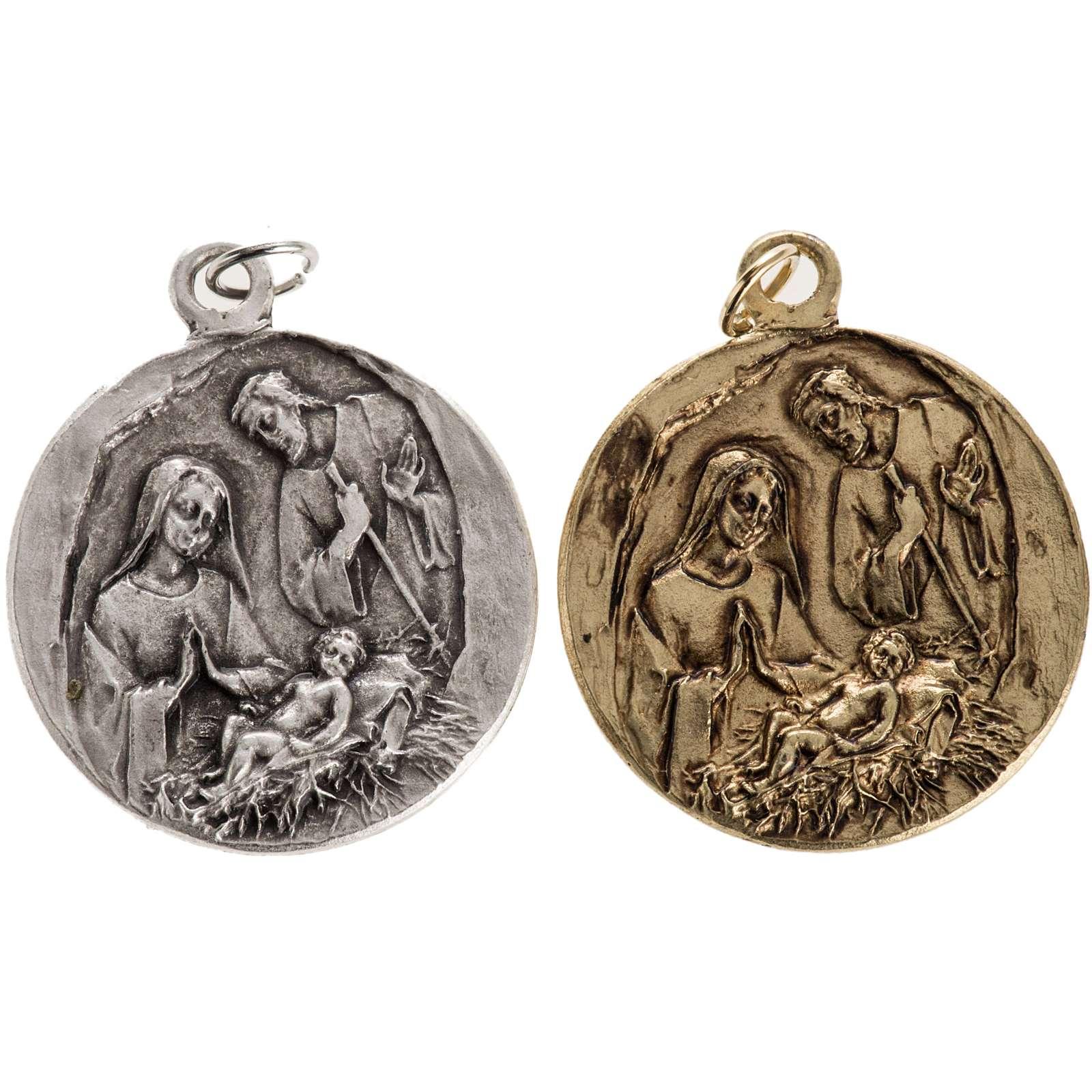 Medalla Natividad en zamak 4
