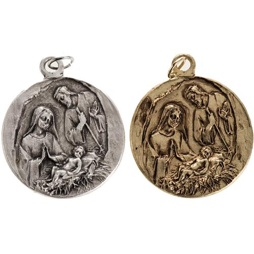 Medalla Natividad en zamak 1