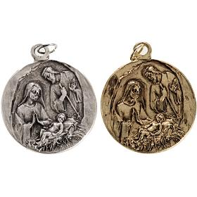 Medals: Nativity medal in zamak