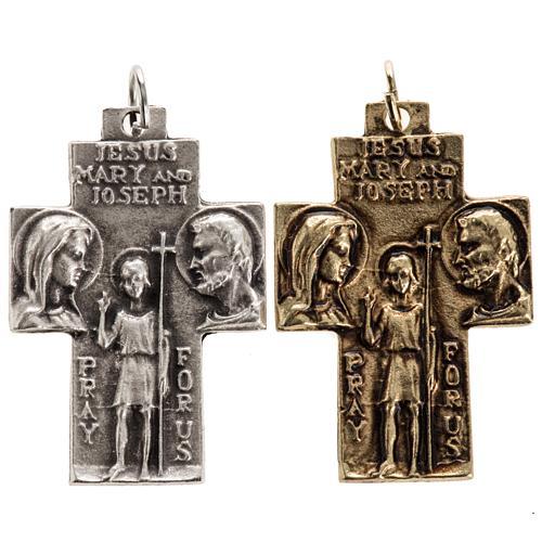 Holy Family pendant cross 1