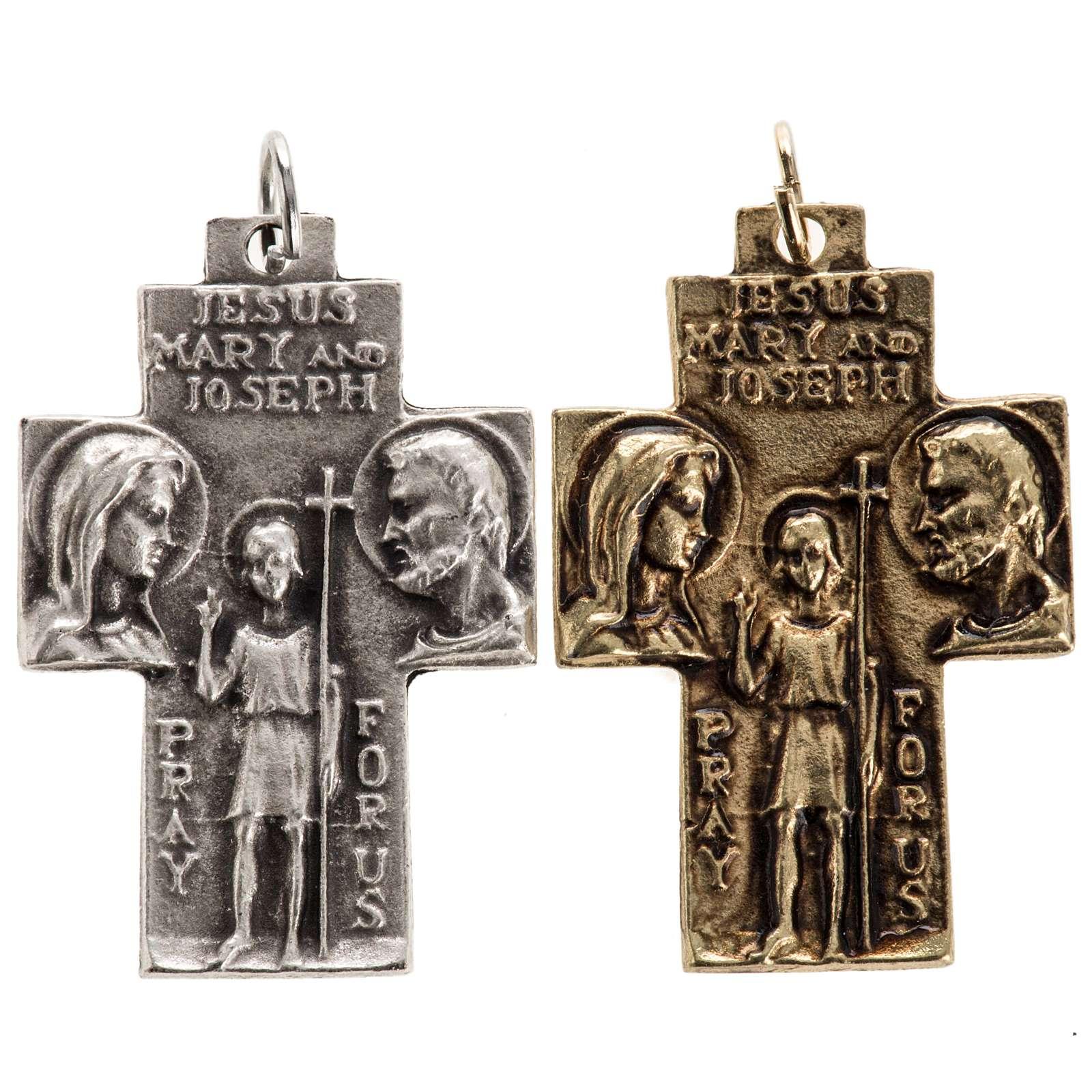 Pendentif croix Sainte Famille 4