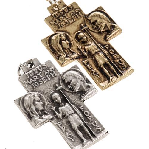 Holy Family pendant cross 2