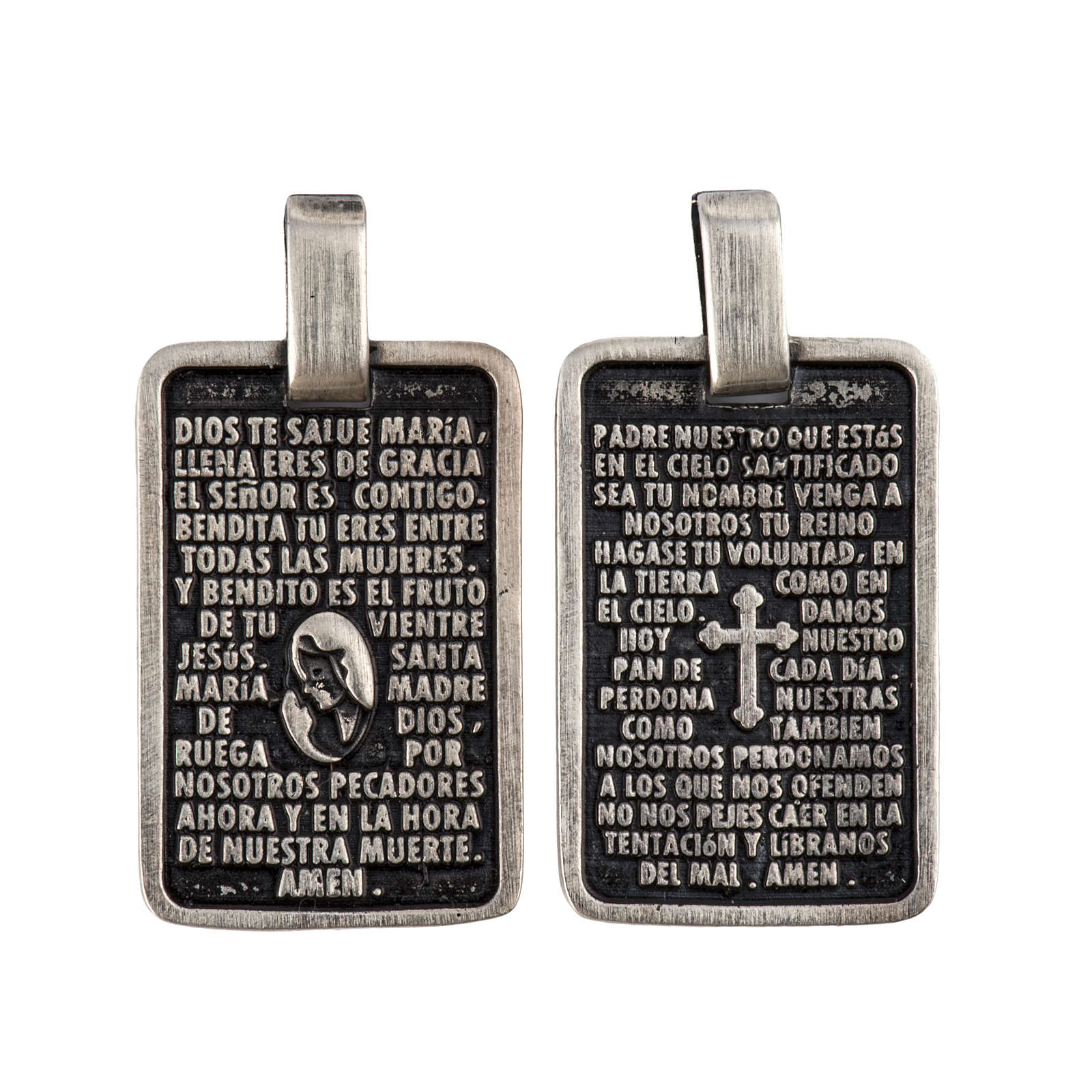 Medal with prayer in SPANISH 4