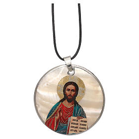 Pendentifs assortis: Pendentif nacre application Pantocrator