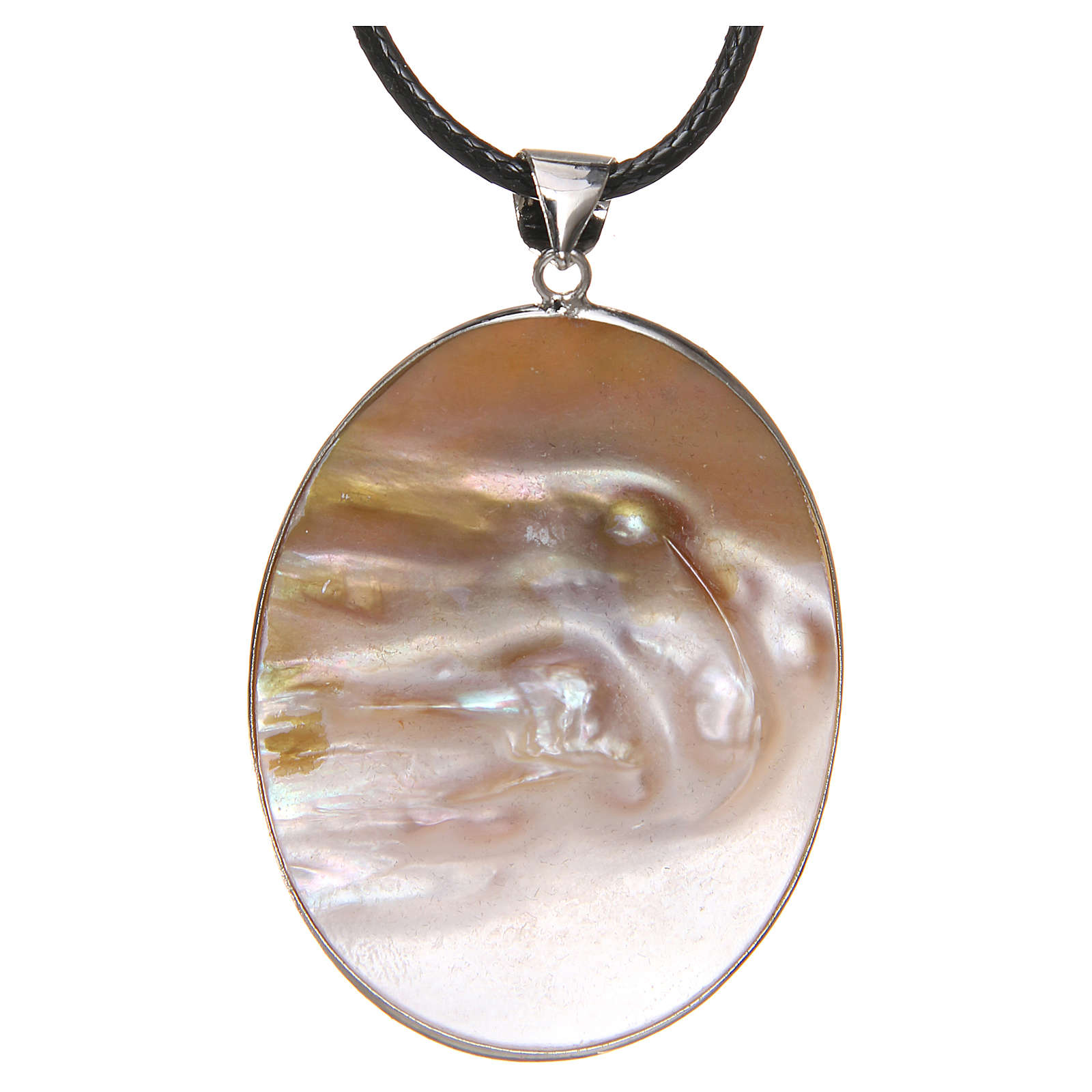 Pendant White Lily natural mother-of-pearl 4