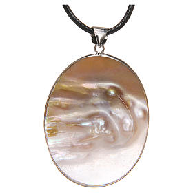 Pendant White Lily natural mother-of-pearl s2