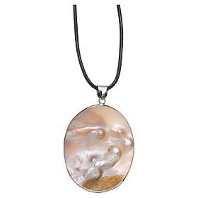 Pendant Guardian Angel natural mother-of-pearl s4