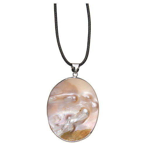 Pendant Guardian Angel natural mother-of-pearl 2