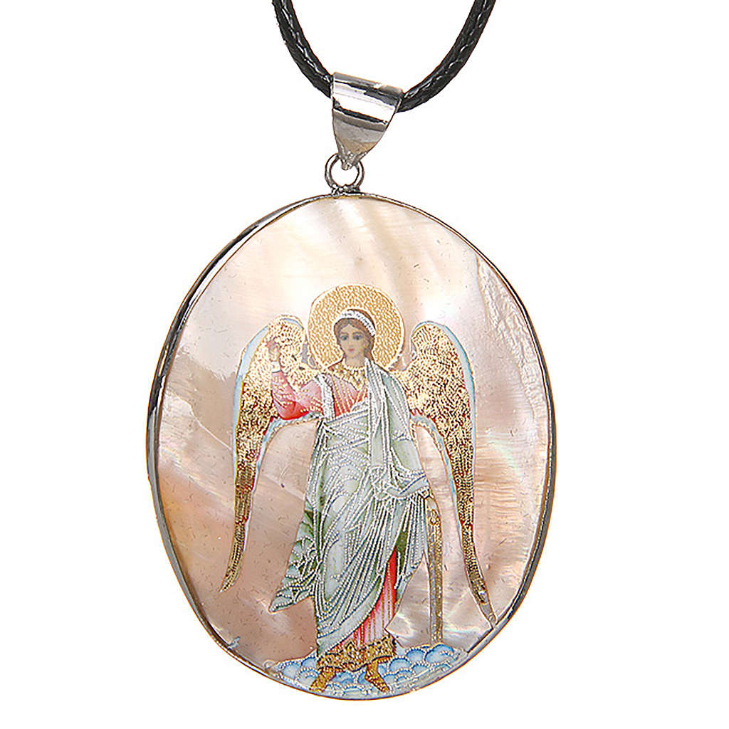 Pendant Guardian Angel natural mother-of-pearl 4
