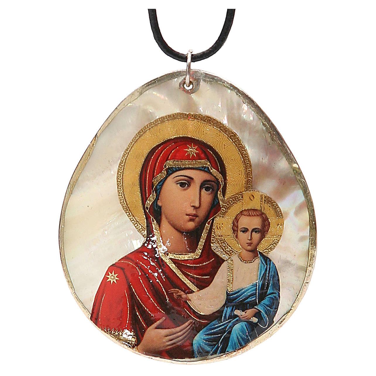 Pendant Smolenskaya natural mother-of-pearl 4