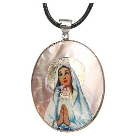 Pendants of various kind: Pendant Our Lady of Lourdes natural mother-of-pearl