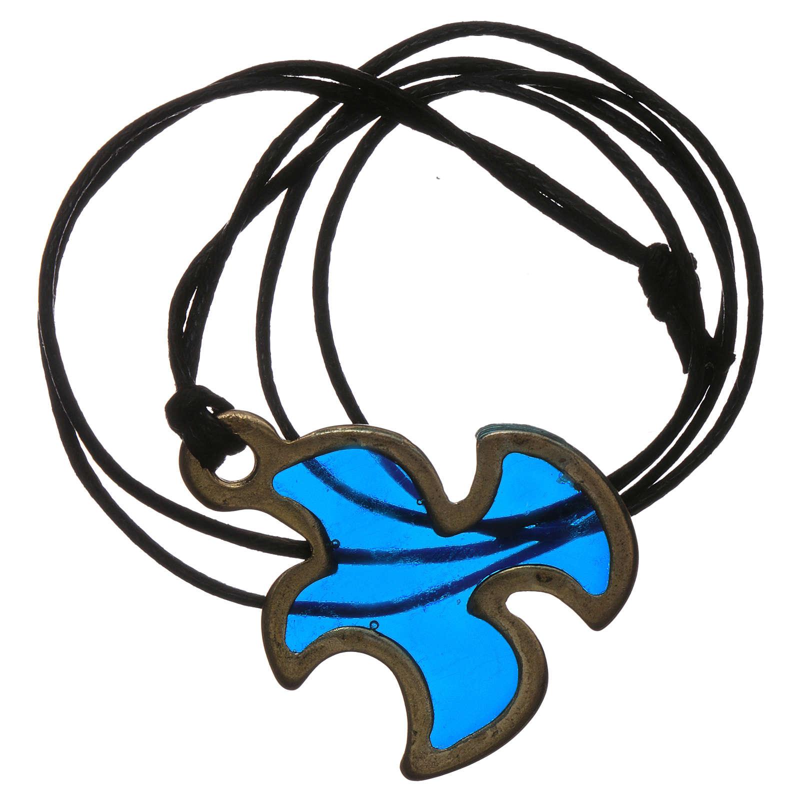 Ciondolo Colomba Spirito Santo Cresima blu 4