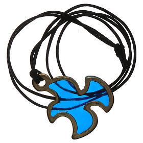 Pingente pomba Espírito Santo Crisma azul s3
