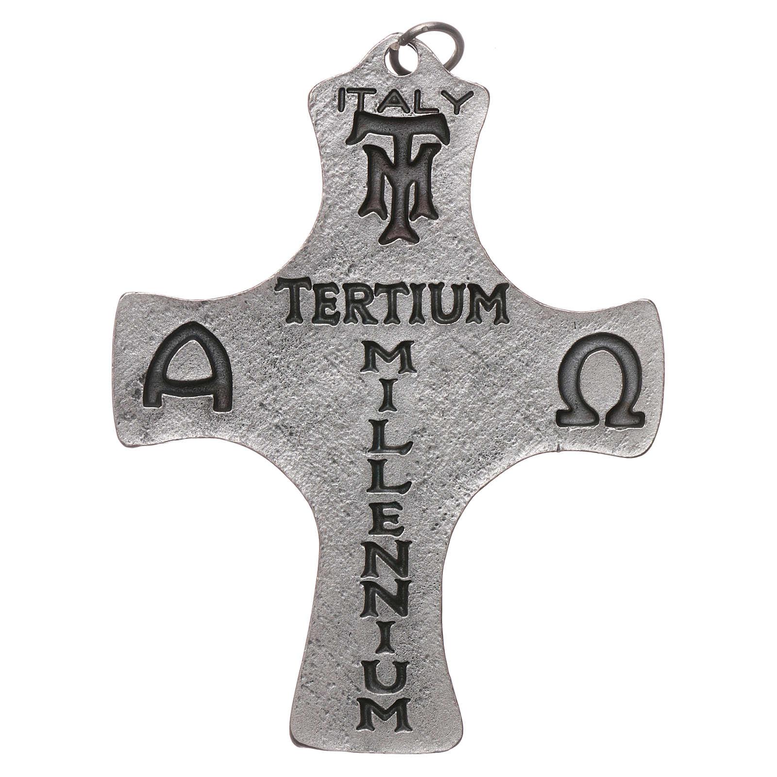 Croix Confirmation Colombe et Poissons 9 cm métal 4