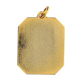 Medalha esmaltada zamak São Gabriel Arcanjo 3x2,5 cm
