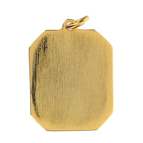 Médaille émaillée Saint Michel Archange zamak 3x2,5 cm