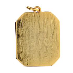 Médaille pendentif émaillée zamak Notre-Dame de Lourdes 3x2,5 cm