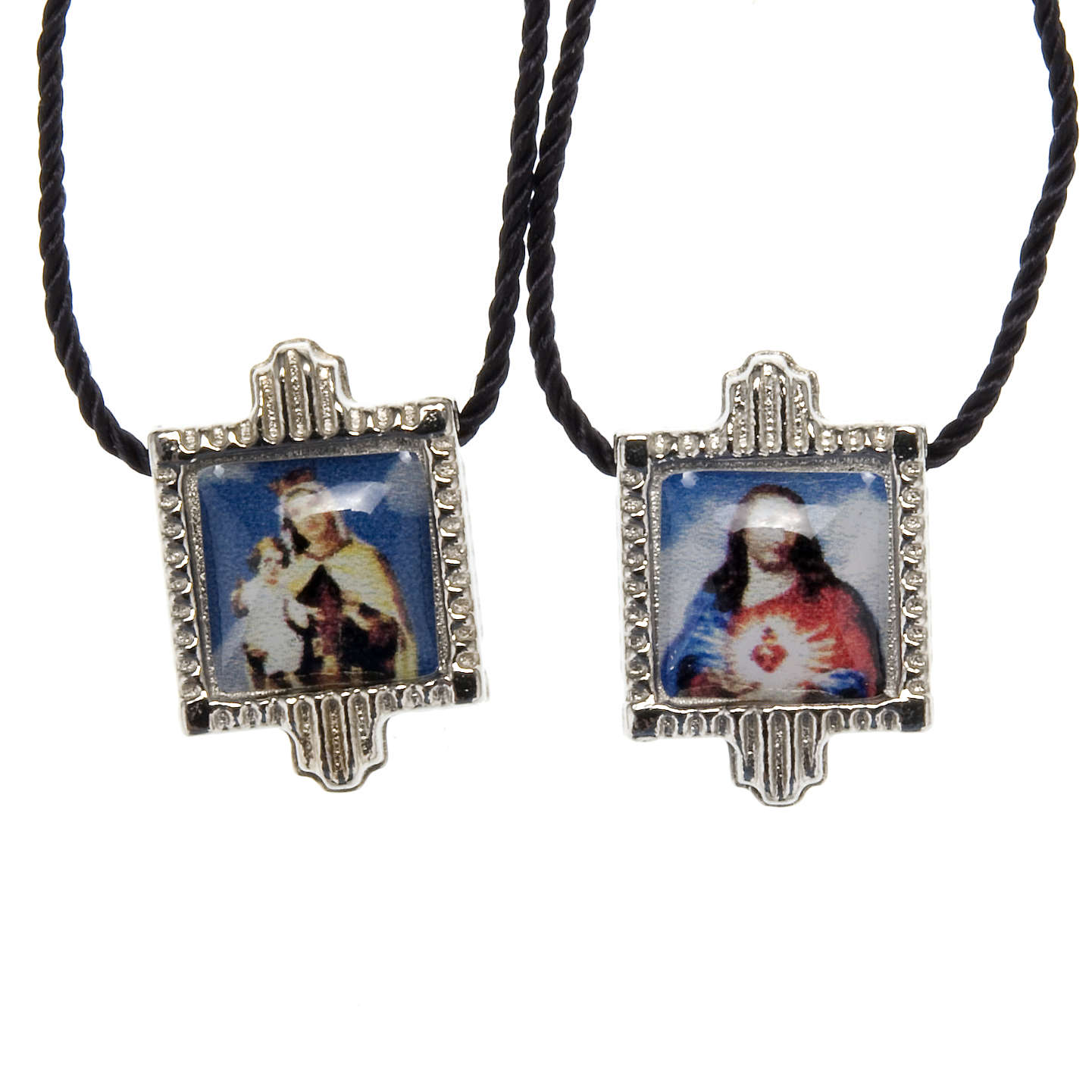 Scapular in metal with color images 4