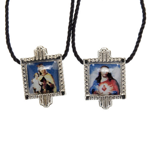 Scapular in metal with color images 1