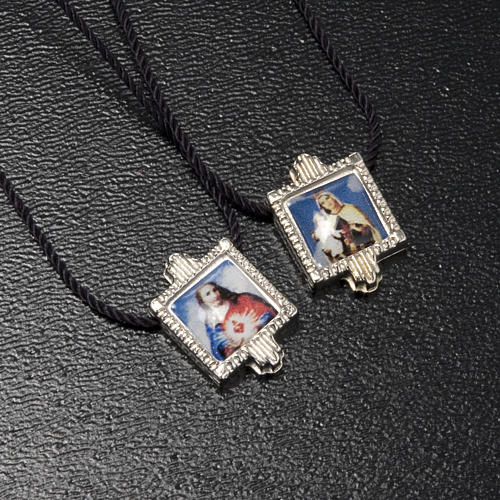 Scapular in metal with color images 2