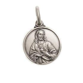 Scapulaire médaille Sacré coeur argent 925 s1