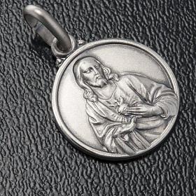 Szkaplerz medalik święte Serce srebro 925 14mm s3