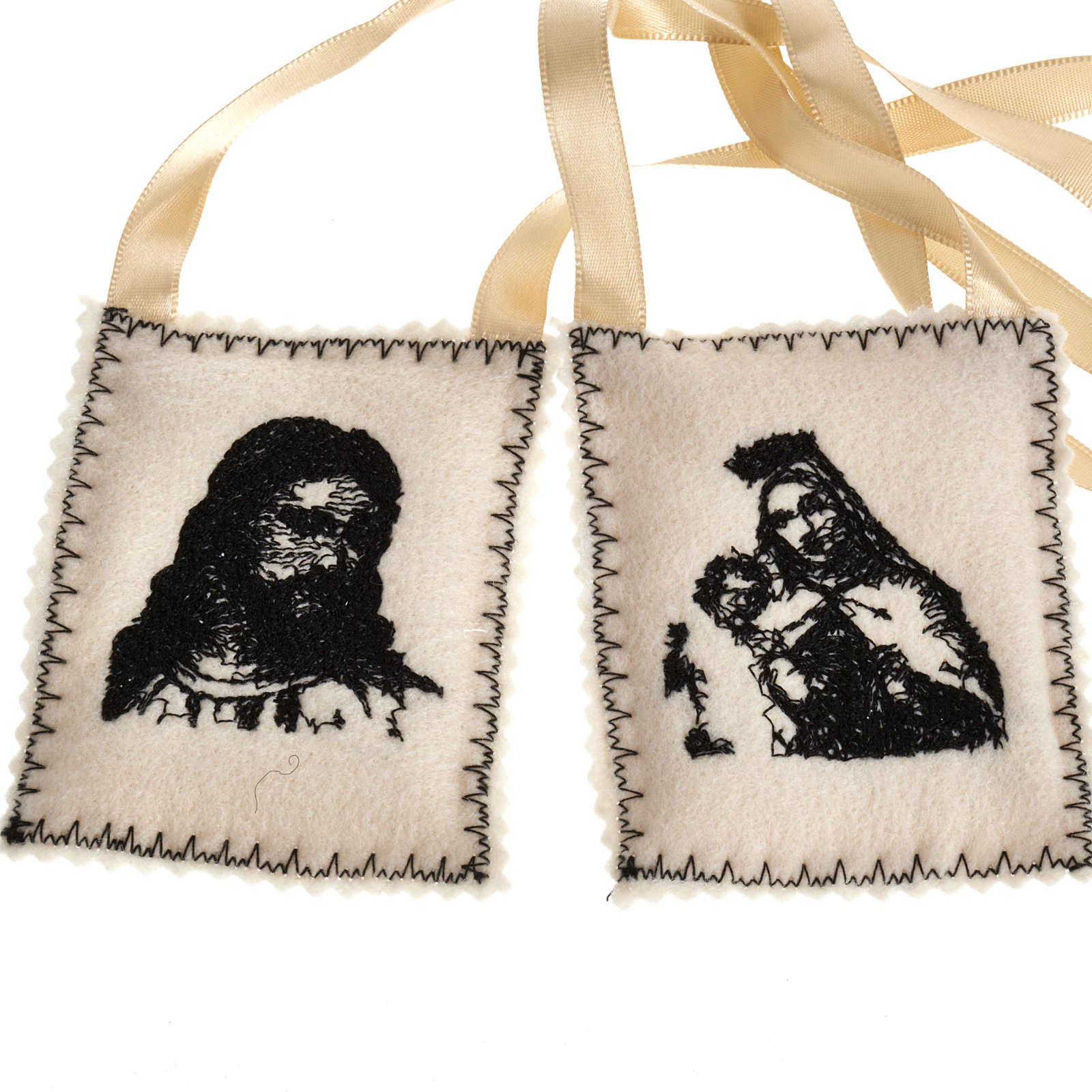 Scapular, black with embroideries 4