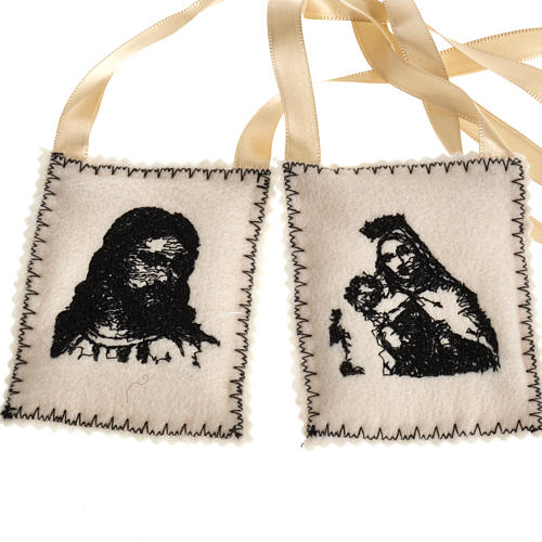 Scapular, black with embroideries 1