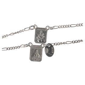 Scapolare argento 800 Madonna Carmelo Gesù s4