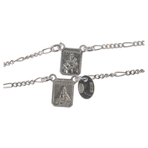 Scapolare argento 800 Madonna Carmelo Gesù 2