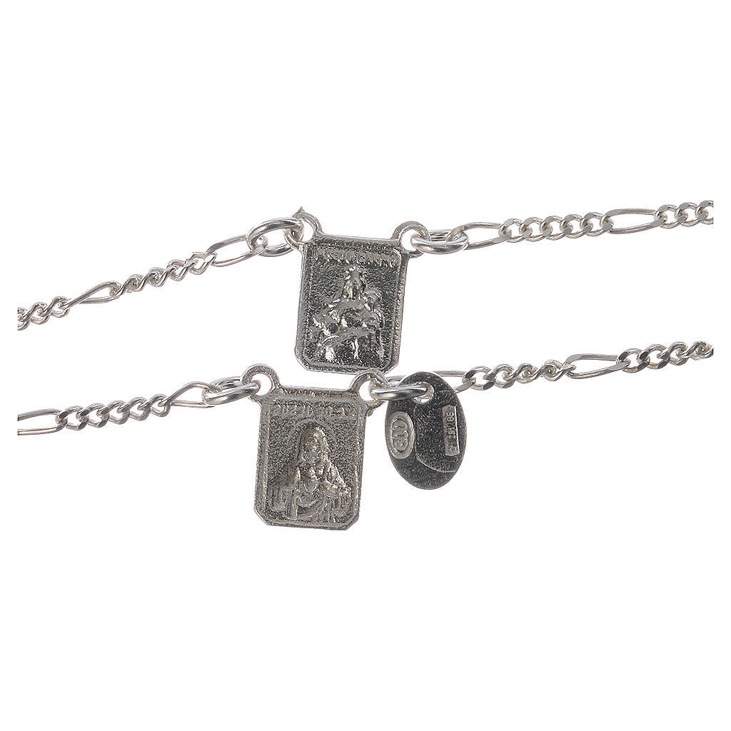 Scapular in 800 silver, Our Lady of Mount Carmel and Jesus 4