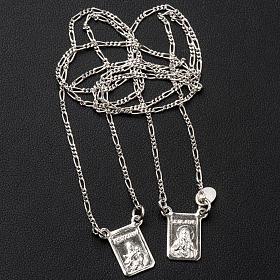 Scapolare argento 800 Madonna e Gesù s3