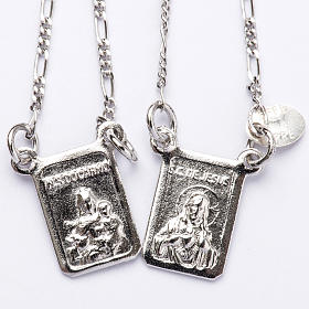 Szkaplerz srebro 800 Matka Boska, Jezus s1