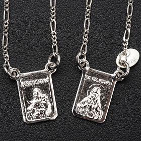Szkaplerz srebro 800 Matka Boska, Jezus s2