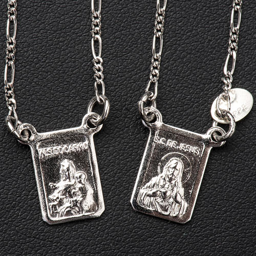 Scapular in 800 silver, Our Lady and Jesus 2