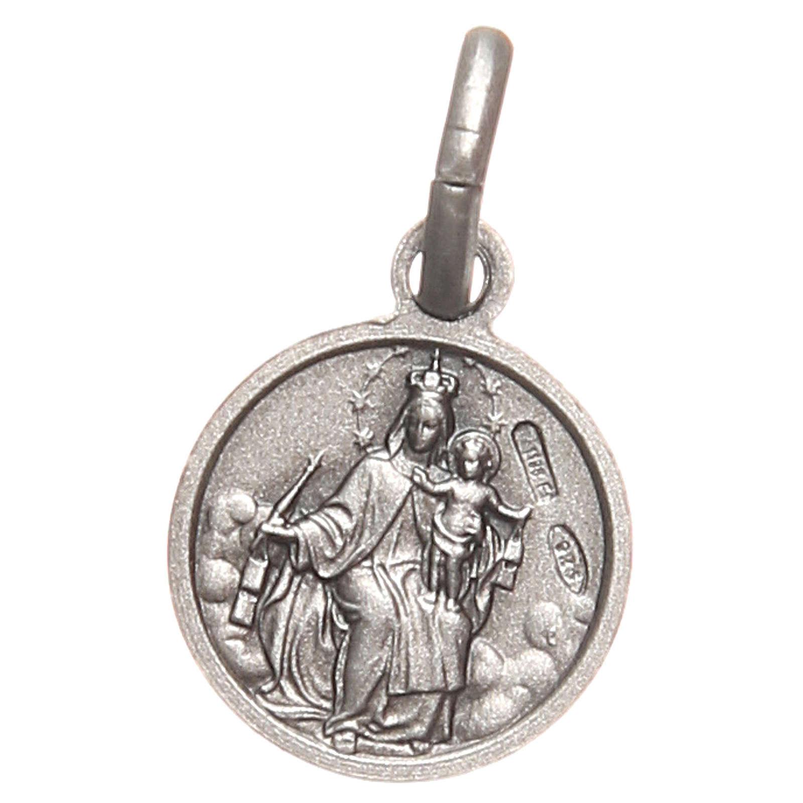 Scapulaire médaille Sacré Coeur argent 925 10 mm 4