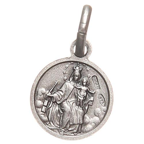 Scapulaire médaille Sacré Coeur argent 925 10 mm 2