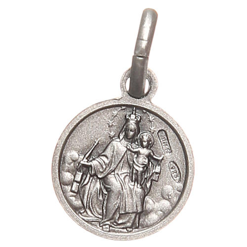 Bachelor medal Sacred Heart in 925 sterling silver 10 mm 2