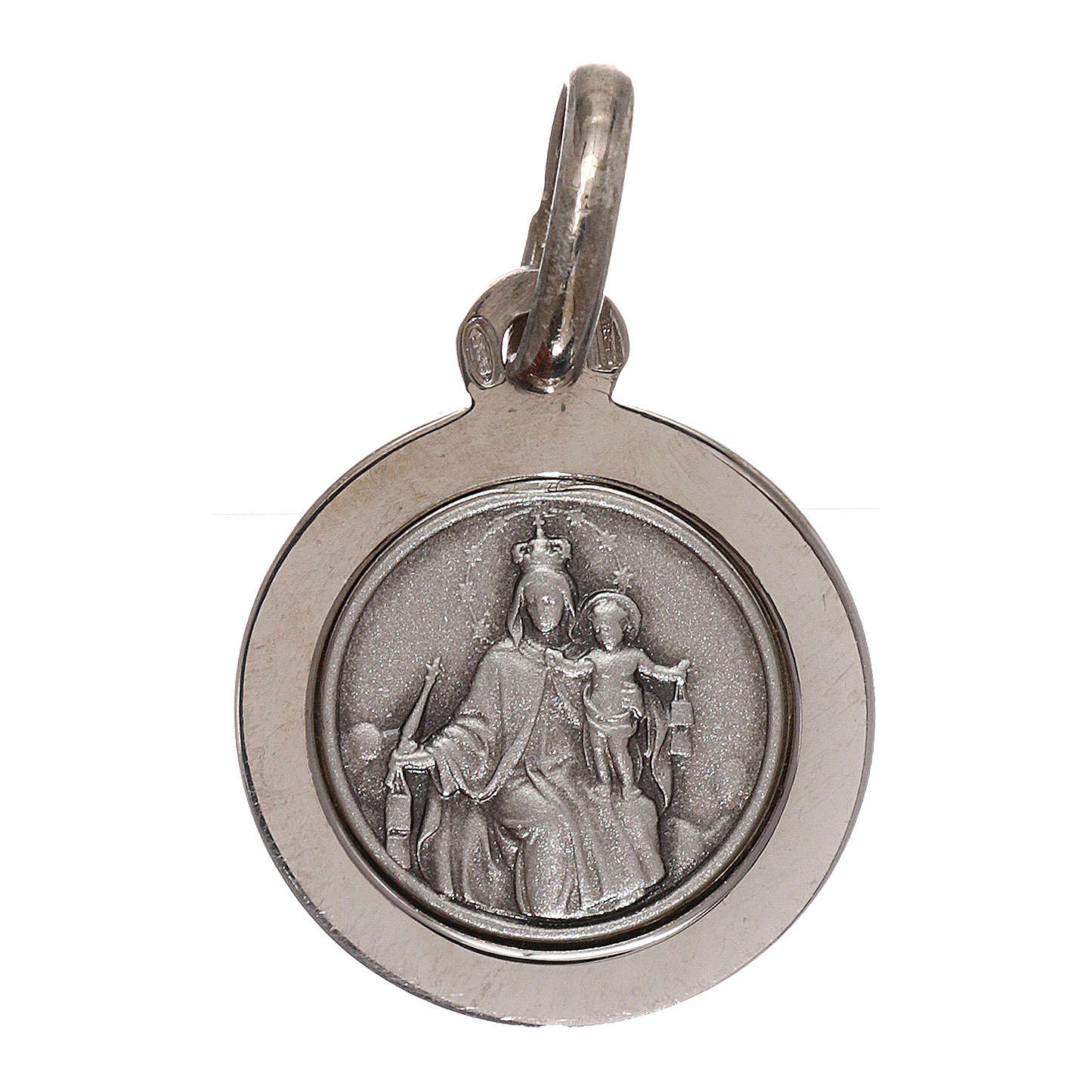 Scapular with medal in 925 silver diam. 12 mm 4