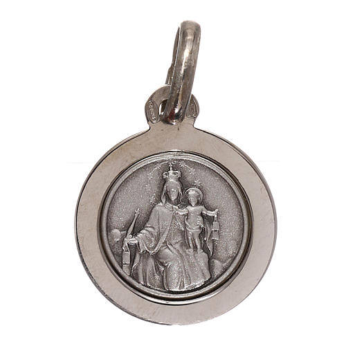 Scapular with medal in 925 silver diam. 12 mm 1