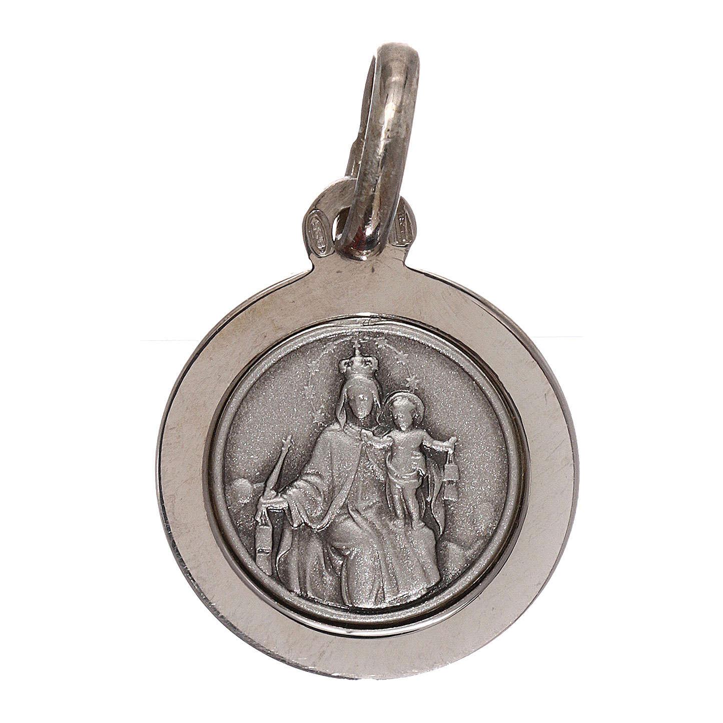 Sterling silver scapular medal 12 mm diameter 4