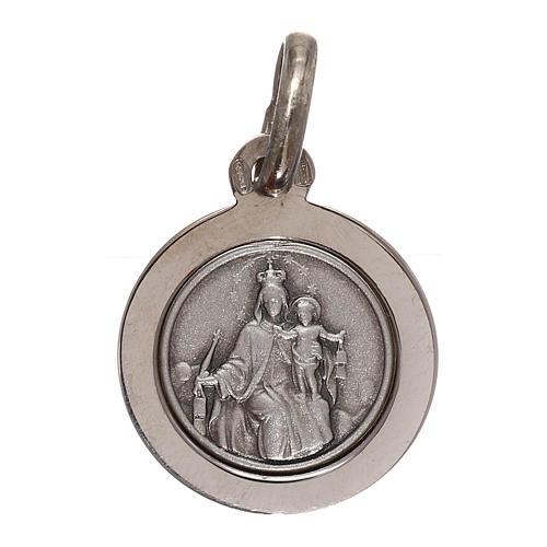 Sterling silver scapular medal 12 mm diameter 1
