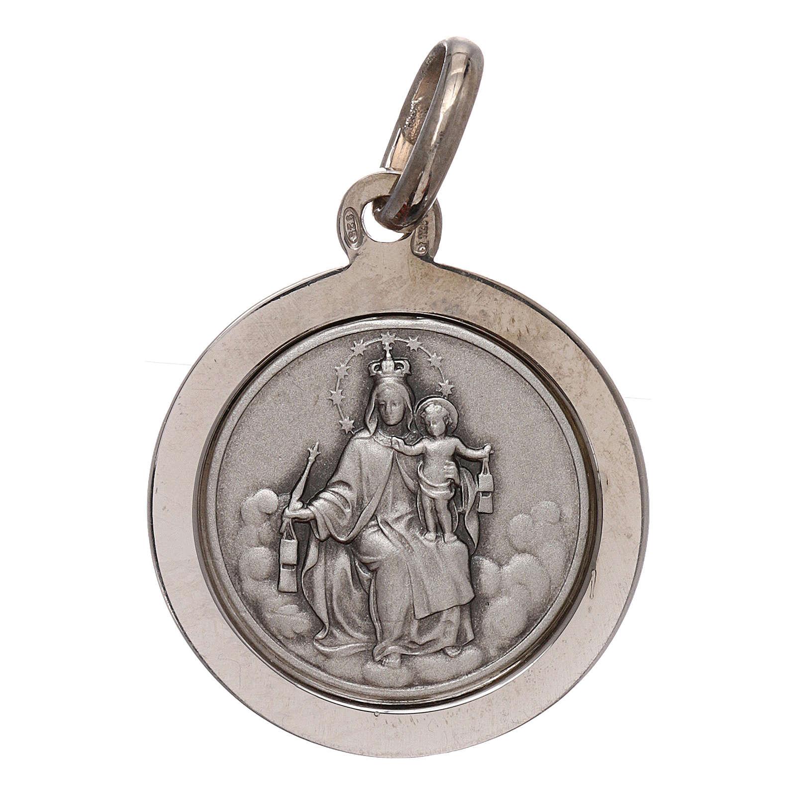 Escapulario plata 925 med. 16 mm bordada 4