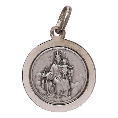 Sterling silver scapular medal 16 mm diameter 1